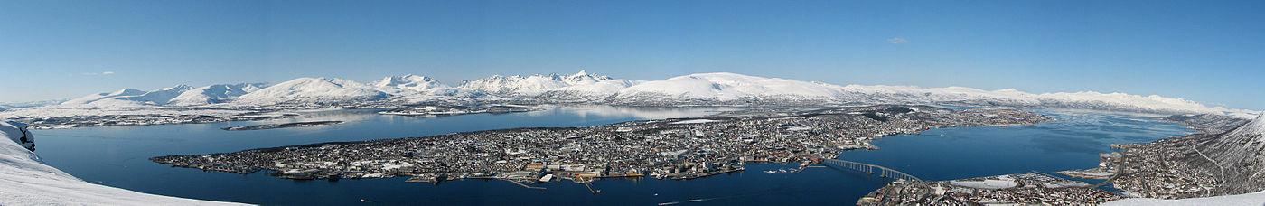 Vista panorámica de Tromsø desde Fløya