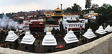 Pashupatinath temple after rain.