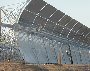 Parabolic trough - Parabolic trough at a plant near Harper Lake, California