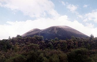Volcanic cone - Paricutin is a large cinder cone in Mexico.