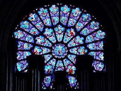 Paris Cathédrale Notre-Dame Innen Westliche Rosette 3