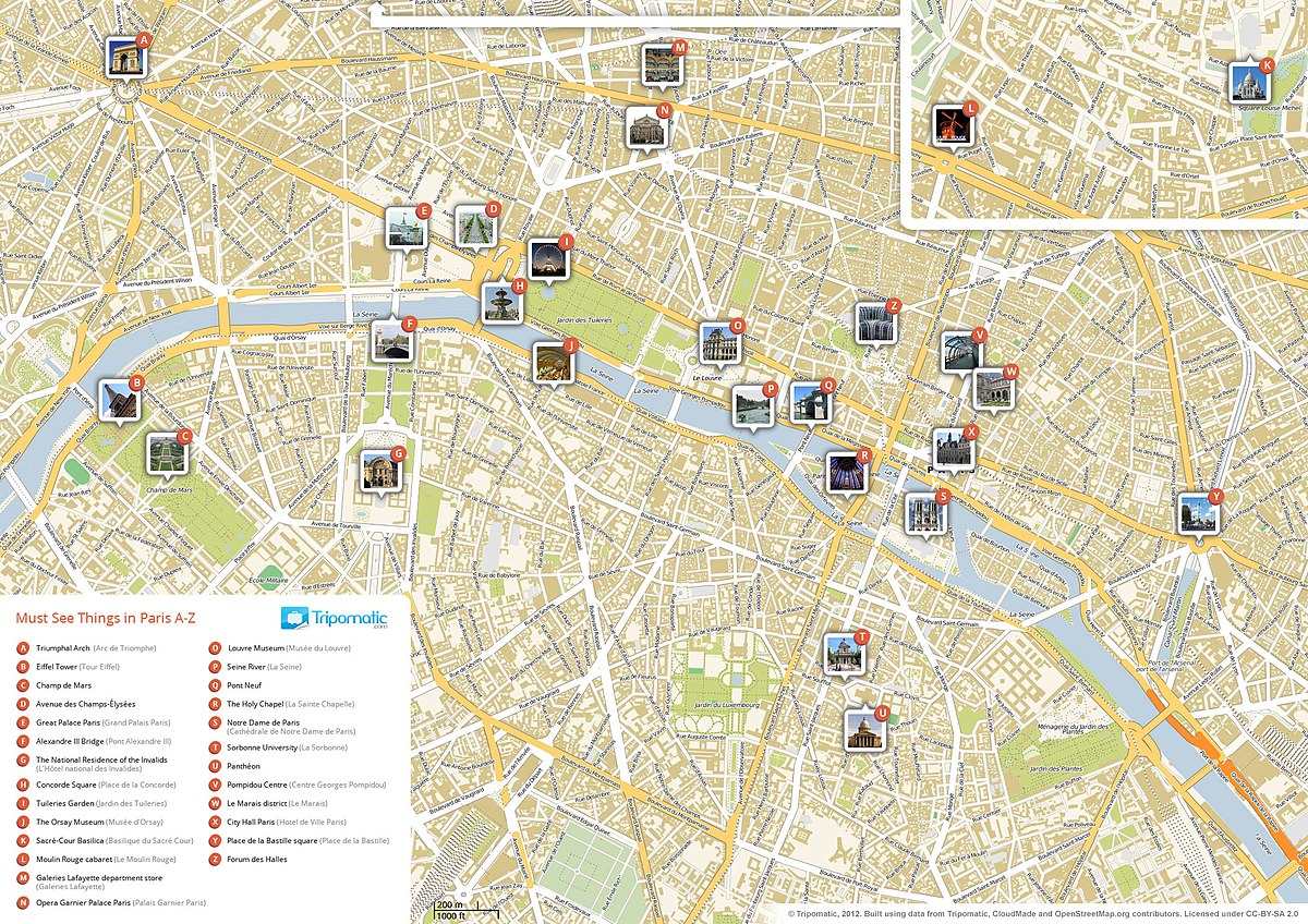 List Of Tourist Attractions In Paris Wikipedia - Paris map quarters