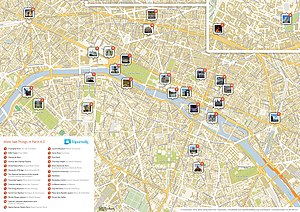Road map - A street map of Paris