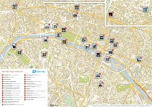 Road map - A street map of Paris