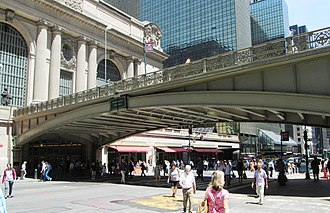 Park Avenue Viaduct - The portion of the viaduct which crosses 42nd Street, looking towards Grand Central Terminal