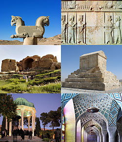 A number of historical attractions in the Fars province
