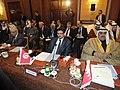Participation du Dr.Rafik Abdessalem, à la réunion du conseil de la Ligue arabe- Une conférence internationale sur la Syrie le 24 février à Tunis. (6868839529).jpg