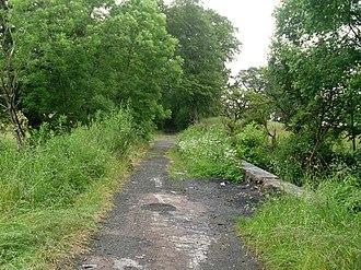 Newton, South Lanarkshire - Image: Path behind Westburn Village geograph.org.uk 1359187
