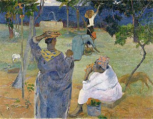 Paul Gauguin's exhibit at Les XX, 1889 - Image: Paul Gauguin 087