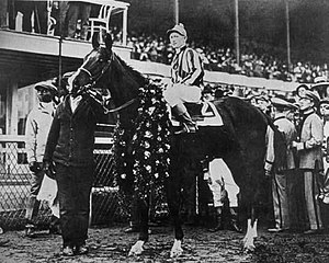 1920 Kentucky Derby - Paul Jones after winning the 1920 Kentucky Derby