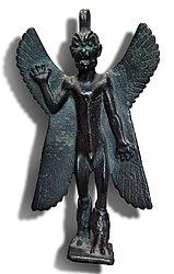 Statuette of the demon Pazuzu with an inscription