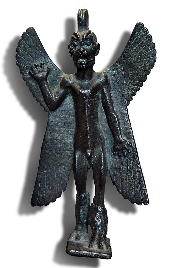 Statuette of the demon Pazuzu with an inscription