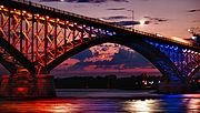 Peace Bridge - at Moonrise