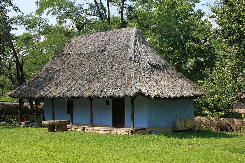 File peasant house wikimedia commons - Romanian peasant houses ...