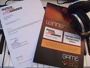 Pedro Camacho - Dutch Games Awards 2010 Best Audio Design Award won by Camacho for his work on Fairytale Fights