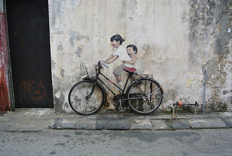 File:Penang Street Art Bicycle.JPG
