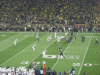 2014 Michigan Wolverines football team - Michigan on offense during the game against Penn State