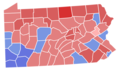Pennsylvania Senate Election Results by County, 1956.png