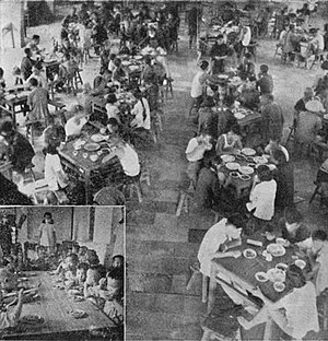 Great Leap Forward - In the beginning, commune members were able to eat for free at the commune canteens. This changed when food production slowed to a halt.