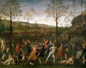 Combat of Love and Chastity - Image: Perugino, lotta tra amore e castità 1