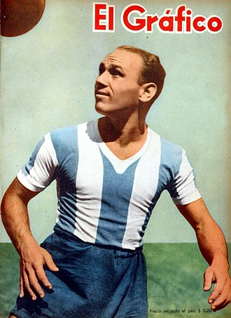 Natalio Pescia - Pescia with the Argentina national team in 1946.