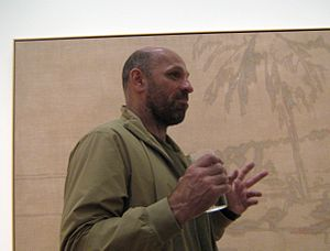 Peter Doig - Peter Doig at the No Foreign Lands exhibition (2013).
