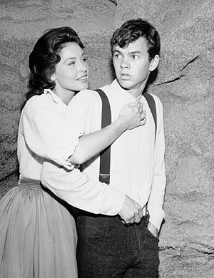 """Peter Helm - Helm and Maggie Pierce in """"The Daniel Clay Story"""", 1962"""
