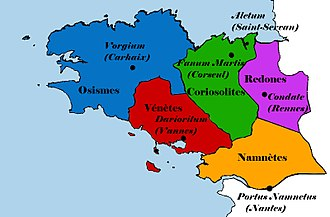 Brittany - The five Gallic tribes of Brittany.