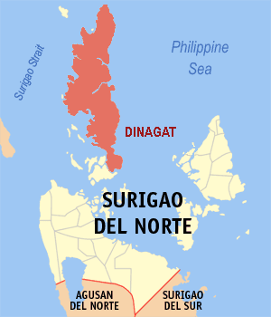 Dinagat Island - Location within Surigao del Norte province