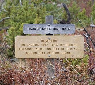 Absaroka-Beartooth Wilderness - Phantom Creek Trail Trailhead in Absaroka-Beartooth Wilderness