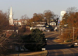 Philadelphia, Mississippi - Philadelphia, Mississippi seen from the east end of town.