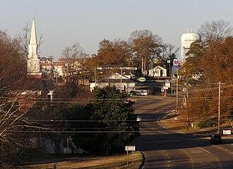 Philadelphia, Mississippi - Philadelphia, Mississippi seen from the east end of town.