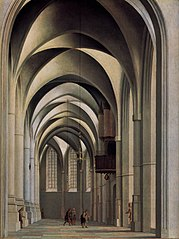 View of the ambulatory of the Grote or St. Bavokerk in Haarlem.