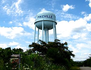 Pikeville, Tennessee - Water tower in Pikeville