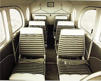 Pilatus PC-6 Porter - PC-6 cabin interior, circa 1960s