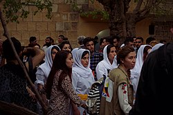 Pilgrims and festival at Lalish on the day of the Ezidi New Year in 2017 22.jpg