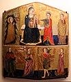 Pittore marchigiano, sposalizio mistico di s. caterina e altri santi, xiv-xv secolo.jpg