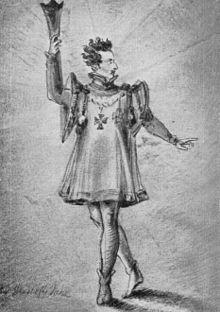 Pius Alexander Wolff als standhafter Prinz in Calderóns gleichnamigem Drama (Quelle: Wikimedia)