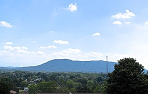 Plainview, Tennessee - View across Plainview, with House Mountain in the distance