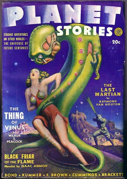 Planet stories Spring 1942 cover