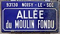 Plaque Allée Moulin Fondu - Noisy-le-Sec (FR93) - 2021-04-24 - 3.jpg