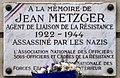 Plaque Jean Metzger, 8 rue Benjamin-Godard, Paris 16e.jpg