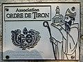 Plaque ordre de Tiron église Saint-Pierre Argenvilliers Eure-et-Loir France.jpg