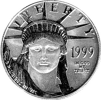 Platinum as an investment - American Platinum Eagle, the official platinum bullion coin of the United States.