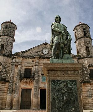 Cárdenas, Cuba - Statue of Columbus on the Plaza de Colón, 2013