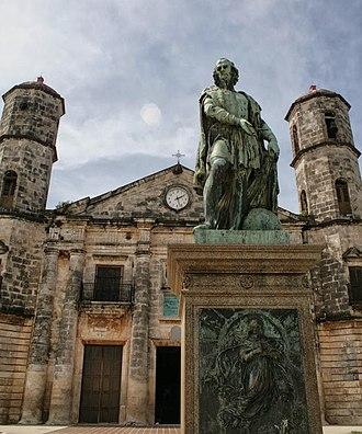 Cárdenas, Cuba - Statue of Columbus on the Plaza de Colón, 2013