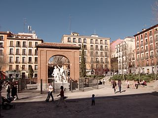 Plaza del Dos de Mayo square in Madrid, Spain