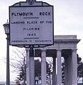 Plymouth Rock sign 1968.jpg