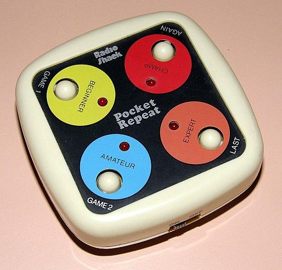 Pocket Repeat by Radio Shack, Cat. No. 60-2152, Circa 1981 (Electronic Handheld Game).jpg
