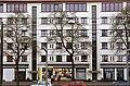 Podbielskistraße 292 294, Hannover-List, Liststadt, Atelierwohnungen unter dem Flachdach, Kiosk am Durchgang zur Straße Eichenplan.jpg